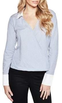 Bardot Frill Back Stripe Shirt