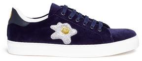 Anya Hindmarch 'Egg' glitter embossed velvet sneakers
