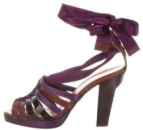 Philosophy di Alberta Ferretti Multistrap Platform Sandals