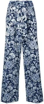 Christian Pellizzari printed straight-leg trousers