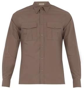 Bottega Veneta Single-cuff patch-pocket cotton shirt