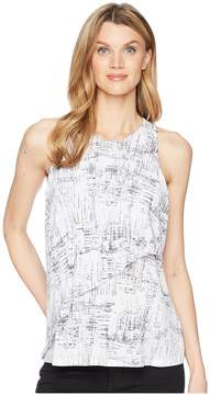 Ellen Tracy Sleeveless Top With Flouncy Overlay Women's Sleeveless
