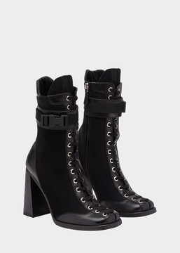 Versace Laced High Heel Demi-Boots