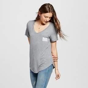 Fifth Sun Women's Boss Chick Graphic T-Shirt Heather Gray Juniors')