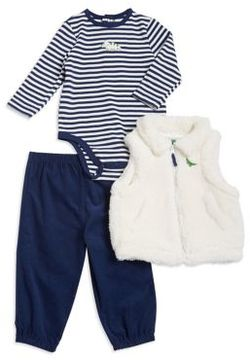 Little Me Baby Girl's Three-Piece Vest, Coverall and Pants Set