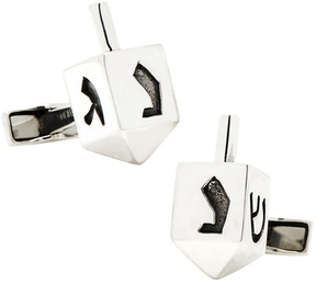Ravi Ratan Men's Sterling Dreidel Cufflinks