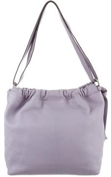 MICHAEL Michael Kors Knot-Accented Leather Shoulder Bag - PURPLE - STYLE