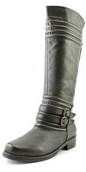 Two Lips Jellied Round Toe Leather Knee High Boot.