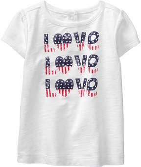 Gymboree White 'Love Love Love' Tee - Newborn & Infant