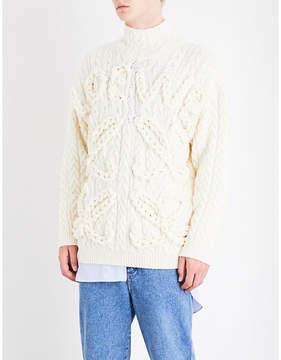 Loewe Cable-knit wool jumper