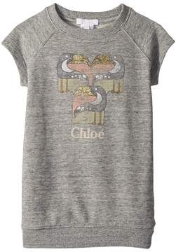 Chloé Kids Mini Me Faded and Pelicans Short Sleeve Dress Girl's Dress