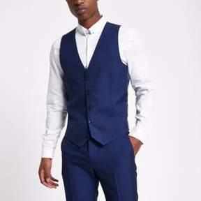 River Island Mens Bright blue suit vest