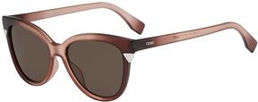 Safilo USA Fendi 0125 Cat Eye Sunglasses