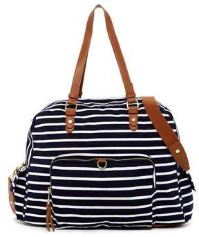 Madden Girl Glory Stripe Large Jersey Weekend Bag