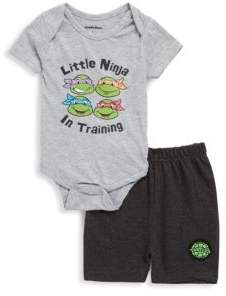 Nickelodeon Baby's Two-Piece Ninja Turtles Bodysuit & Shorts Set
