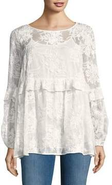 Context Lace Long-Sleeve Top