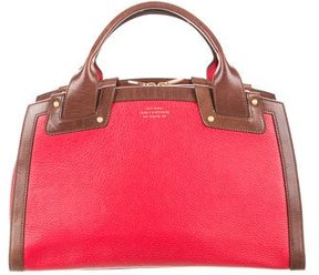 Smythson Structured Leather Satchel