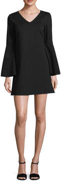 CeCe Women's Lizzie Bell Sleeve Shift Dress