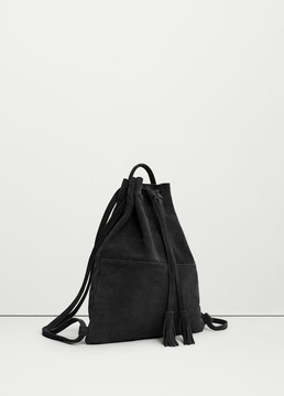 MANGO OUTLET Leather backpack