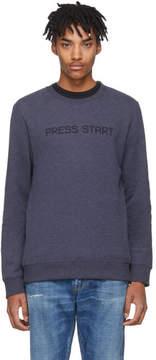A.P.C. Blue Press Start Sweatshirt