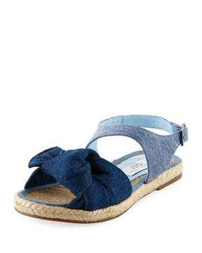 Stella McCartney Rori Denim Espadrille Sandal, Toddler/Kid