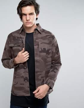 Brave Soul Camo Shacket Jacket