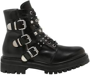 Janet & Janet 30mm Buckled Leather Ankle Boots