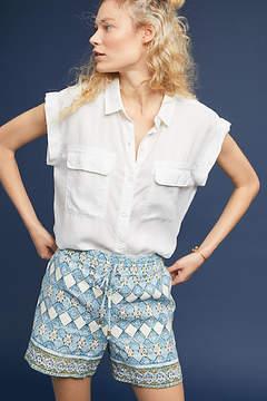 Anthropologie Jolene Linen Shorts