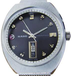 Rado Marco Polo Stainless Steel Automatic Vintage 35mm Mens Watch c1960s