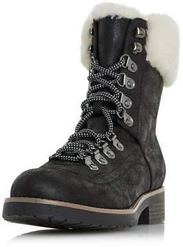 Head Over Heels *Head Over Heels Black 'Rolli' Flat Boot