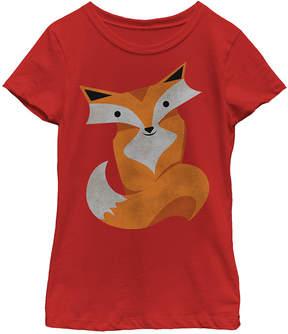 Fifth Sun Red Foxy Fox Crewneck Tee - Girls