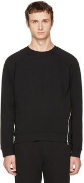 McQ Black Twisted Zip Sweatshirt