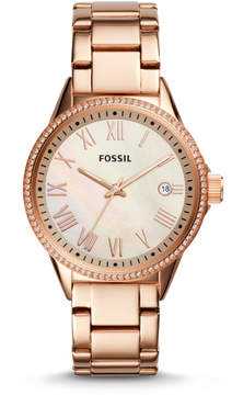 Fossil Blythe Three-Hand Rose Gold-Tone Stainless Steel Watch