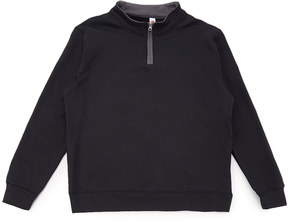Fruit of the Loom Black & Charcoal Quarter-Zip Pullover