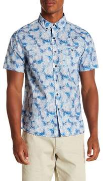 Michael Bastian Ocean Camouflage Short Sleeve Regular Fit Shirt