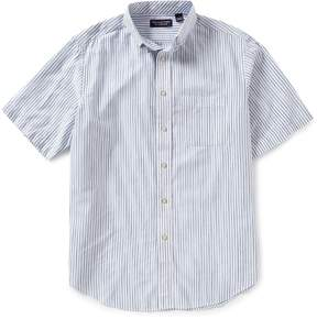 Roundtree & Yorke Big and Tall Short-Sleeve Vertical Stripe Sportshirt