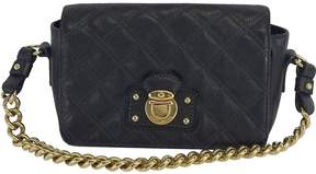 Marc Jacobs Black Quilted Leather Handbag - BLACK - STYLE
