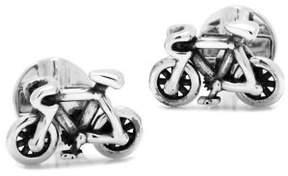 Cufflinks Inc. Cufflinks, Inc. Silvertone Moving Parts Bicycle Cuff Links