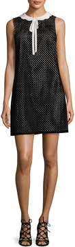 CeCe Women's Joelle Scalloped Eyelet Shift Dress