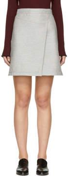 Carven Grey Wrap Miniskirt