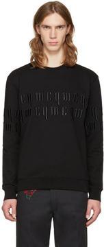 McQ Black Embroidery Logo Pullover
