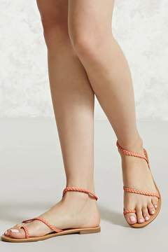 FOREVER 21 Faux Leather Braided Sandals