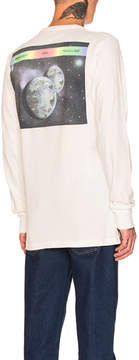Off-White ART DAD Space On Deck Long Sleeve Tee