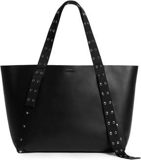 AllSaints Sid East/West Leather Tote
