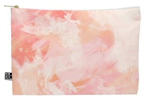 Deny Designs Chelsea Victoria Flamingo Watercolor Pouch
