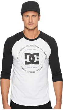 DC Rebuilt 3/4 Sleeve Raglan Men's Clothing