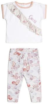 GUESS Short-Sleeve Ruffle Tee and Leggings Set (0-24m)