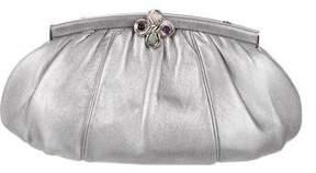 Judith Leiber Metallic Leather Convertible Clutch