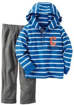 Carter's Infant Boys 2-Piece Dad's Team Captain Hooded Shirt & Pant Set NB
