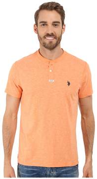 U.S. Polo Assn. Slim Fit Slub Space Dyed Henley T-Shirt Men's Short Sleeve Pullover